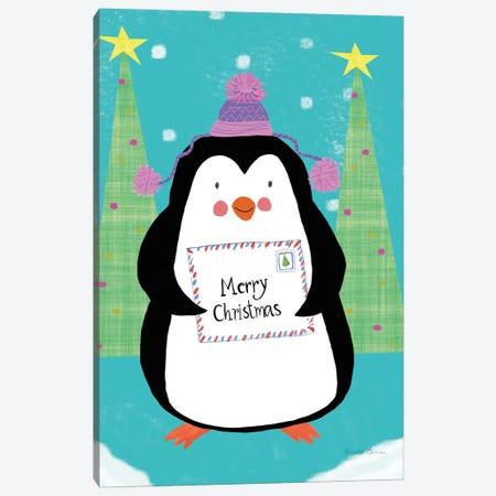 Snowman and Penguin Friends I Canvas Print #FZA138} by Farida Zaman Canvas Wall Art
