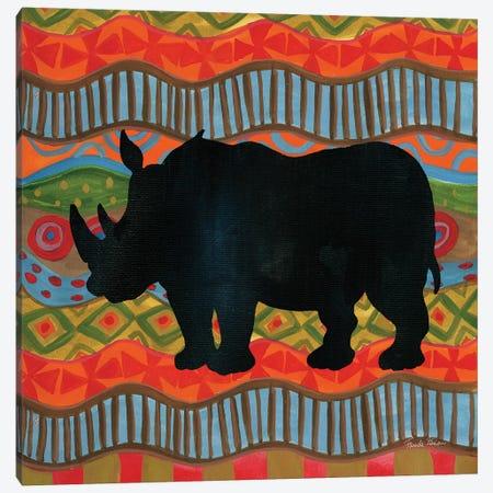 African Animal IV  Canvas Print #FZA13} by Farida Zaman Canvas Wall Art