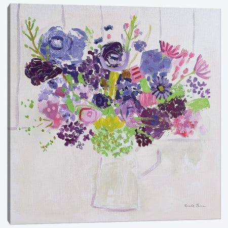 Bouquet for You 3-Piece Canvas #FZA14} by Farida Zaman Canvas Print