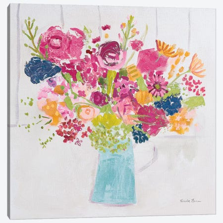Bouquet for You Bright v2 Canvas Print #FZA150} by Farida Zaman Canvas Wall Art