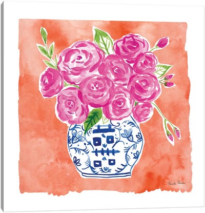 Chinoiserie Roses II Canvas Art Print