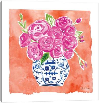 Chinoiserie Roses II Canvas Art Print