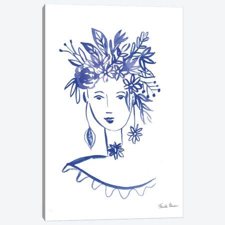 Flower Girl I Canvas Print #FZA158} by Farida Zaman Canvas Art