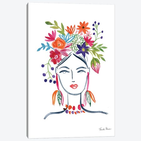 Flower Girl II Canvas Print #FZA159} by Farida Zaman Canvas Wall Art