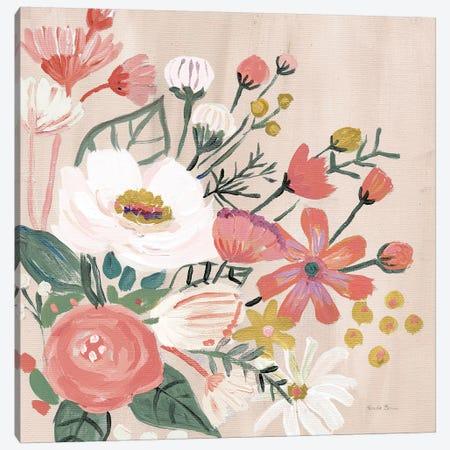 Vintage Floral II Modern Canvas Print #FZA166} by Farida Zaman Canvas Art