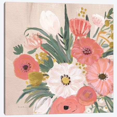 Vintage Floral IV Flipped Modern Canvas Print #FZA167} by Farida Zaman Canvas Artwork