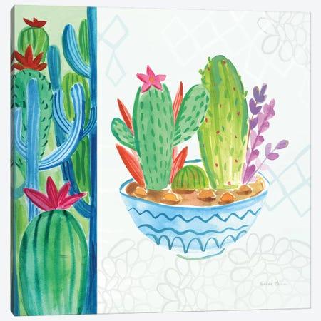 Cacti Garden II no Birds and Butterflies Canvas Print #FZA168} by Farida Zaman Canvas Art Print