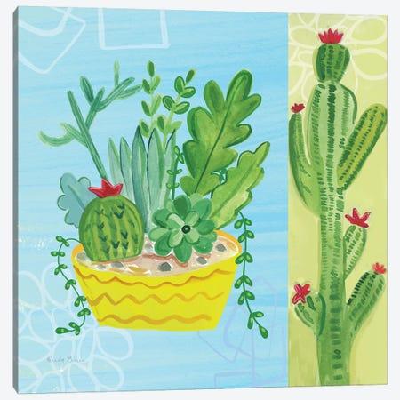 Cacti Garden IV no Birds and Butterflies Canvas Print #FZA169} by Farida Zaman Canvas Art Print