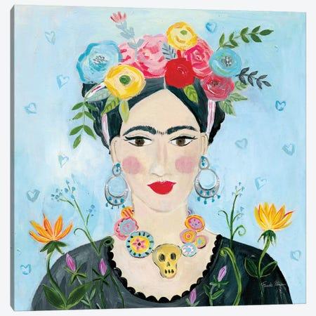 Homage to Frida II Shoulders Canvas Print #FZA173} by Farida Zaman Canvas Art
