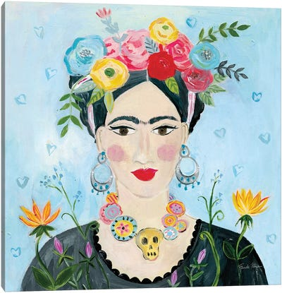 Homage to Frida II Shoulders Canvas Art Print