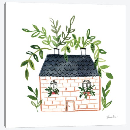 Home Sweet Home II Canvas Print #FZA176} by Farida Zaman Art Print