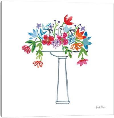 Floral Bathroom II Canvas Art Print