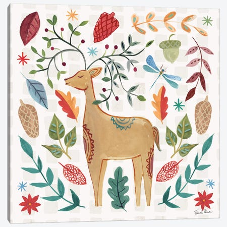 Whimsical Woodland III Canvas Print #FZA184} by Farida Zaman Canvas Wall Art