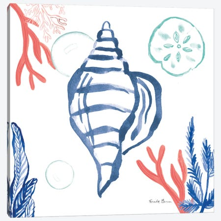 Coastal Jewels II Coral Cove Canvas Print #FZA188} by Farida Zaman Art Print