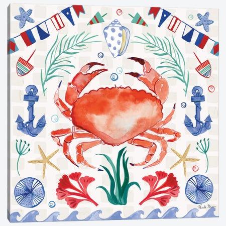 Maritime Delight II 3-Piece Canvas #FZA194} by Farida Zaman Canvas Art Print
