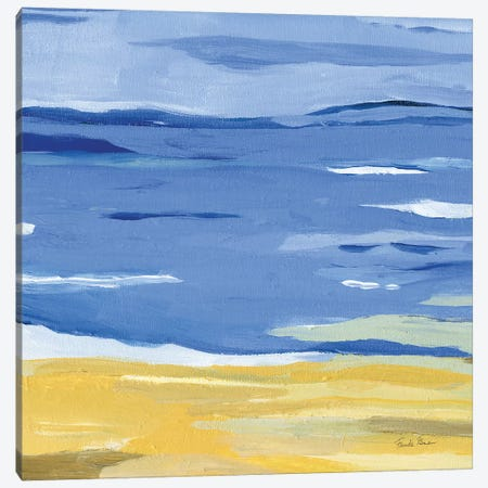Coastal Abstract Canvas Print #FZA200} by Farida Zaman Canvas Artwork