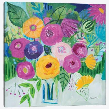 Bold Florals Canvas Print #FZA206} by Farida Zaman Canvas Print