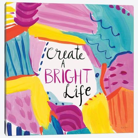 Create a Bright Life 3-Piece Canvas #FZA207} by Farida Zaman Canvas Art Print