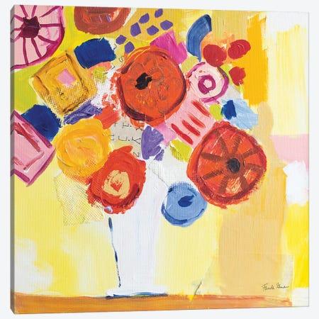 Floral Collage Canvas Print #FZA208} by Farida Zaman Canvas Artwork