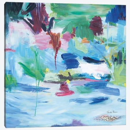 Lake Abstract Canvas Print #FZA211} by Farida Zaman Art Print