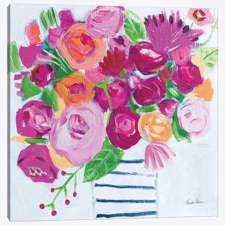 Pink Blossoms I Canvas Print #FZA212} by Farida Zaman Canvas Print