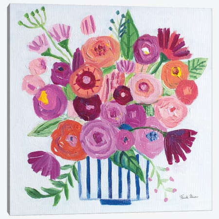 Pink Blossoms II Canvas Print #FZA213} by Farida Zaman Art Print