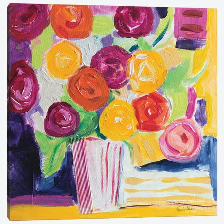 Posies Canvas Print #FZA214} by Farida Zaman Canvas Art