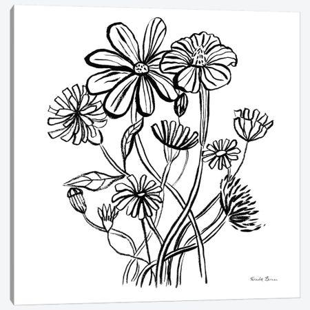 Wild Flowers Line I Canvas Print #FZA216} by Farida Zaman Canvas Artwork