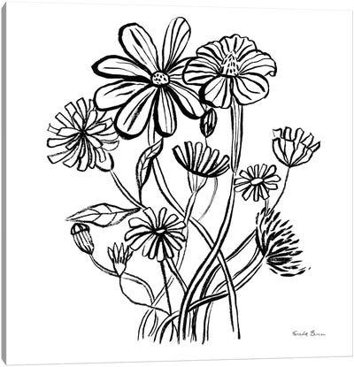 Wild Flowers Line I Canvas Art Print