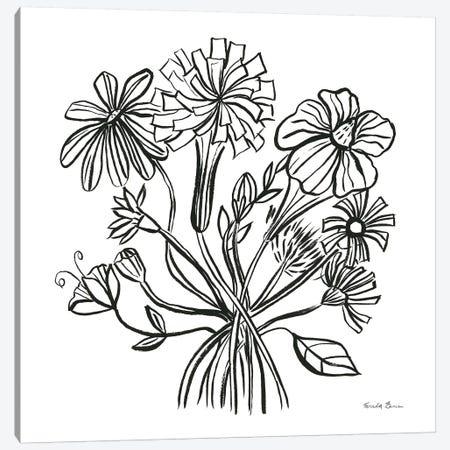 Wild Flowers Line II Canvas Print #FZA217} by Farida Zaman Canvas Art