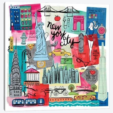 Global Travel I Canvas Print #FZA223} by Farida Zaman Canvas Artwork