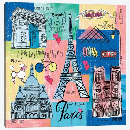 Global Travel II Canvas Print #FZA224} by Farida Zaman Canvas Art Print