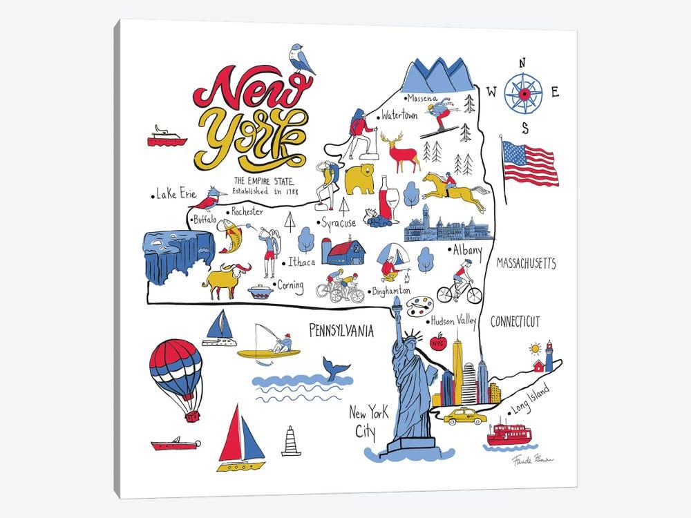 New York State by Farida Zaman 1-piece Art Print