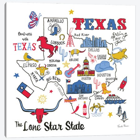 Texas Canvas Print #FZA227} by Farida Zaman Canvas Print