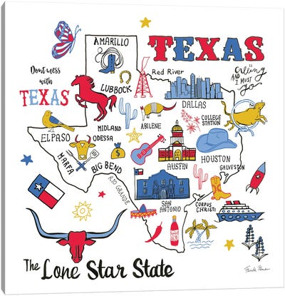 Texas Canvas Art Print