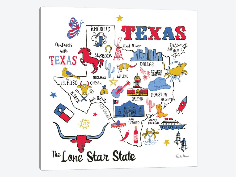 Texas by Farida Zaman 1-piece Canvas Wall Art