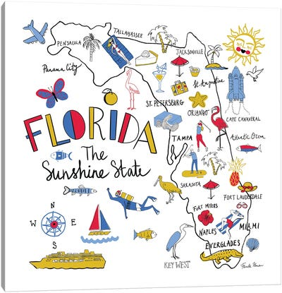 Florida Canvas Art Print