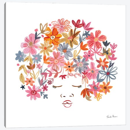 Floral Beauties II Canvas Print #FZA231} by Farida Zaman Canvas Print