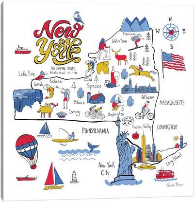New York State No Bp Canvas Art Print