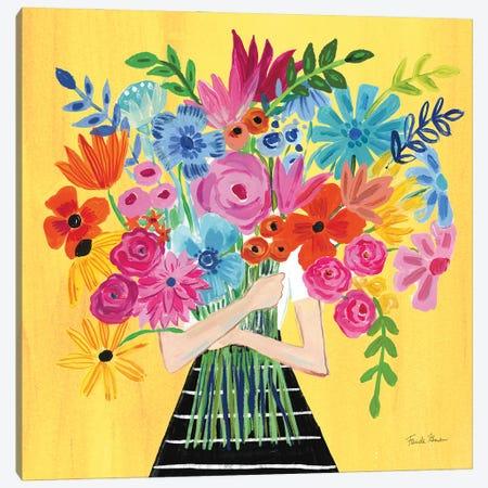 A Bunch Of Flowers I Canvas Print #FZA233} by Farida Zaman Canvas Art Print