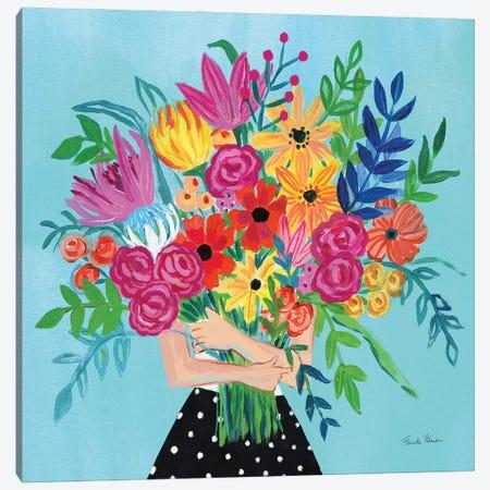 A Bunch Of Flowers II Canvas Print #FZA234} by Farida Zaman Canvas Wall Art