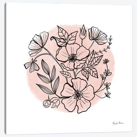 Black And White Botanical III Rose Canvas Print #FZA237} by Farida Zaman Canvas Art