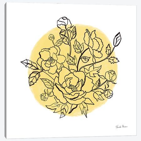 Black And White Botanical IV Sunshine Canvas Print #FZA238} by Farida Zaman Canvas Art Print