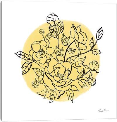 Black And White Botanical IV Sunshine Canvas Art Print