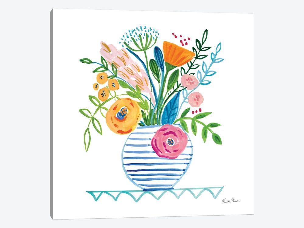 Bountiful Blooms I by Farida Zaman 1-piece Canvas Print