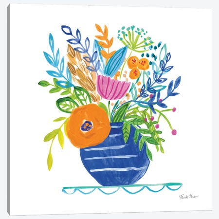 Bountiful Blooms II Canvas Print #FZA240} by Farida Zaman Canvas Art