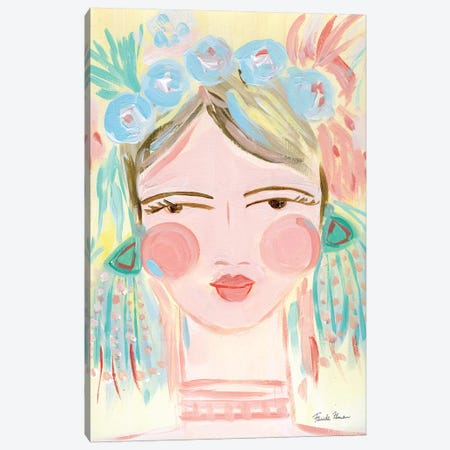 Fresh Face I Canvas Print #FZA42} by Farida Zaman Art Print