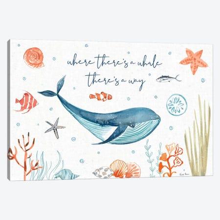 Whale Tale III Canvas Print #FZA46} by Farida Zaman Canvas Art