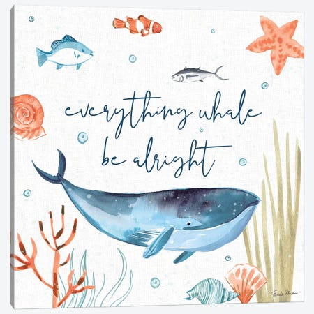 Whale Tale IV Canvas Print #FZA47} by Farida Zaman Canvas Artwork