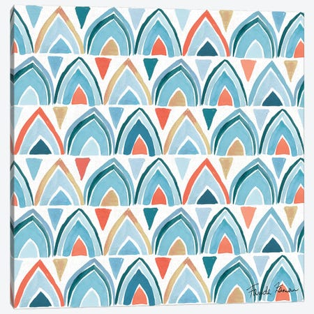 Whale Tale Pattern IV 3-Piece Canvas #FZA54} by Farida Zaman Canvas Print